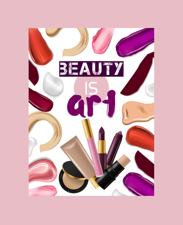 Lipstick pattern vector beautiful red color fashion pink lipgloss lip makeup art illustration backdrop of shiny liquid female cosmetic background banner.