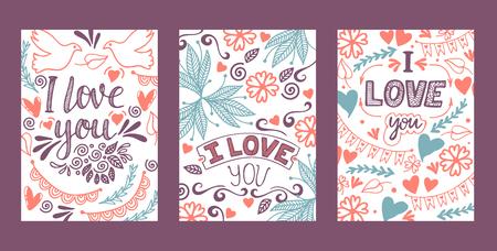 Love lettring vector lovely calligraphy lovable sign sketch iloveyou on Valentines day beloved card illustration backdrop set of love decor typography background Illustration