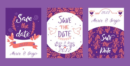 Love lettring Sav e the Date vector lovely calligraphy lovable sign sketch iloveyou on Valentines day beloved card illustration backdrop set of love decor typography background banner