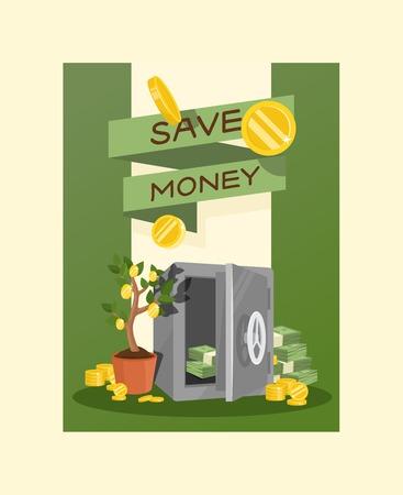 Argent vecteur tirelire cochon tirelire banque financière ou tirelire coffre-fort avec épargne d'investissement et pièces de fond illustration tirelire tirelire avec fond de caisse. Vecteurs