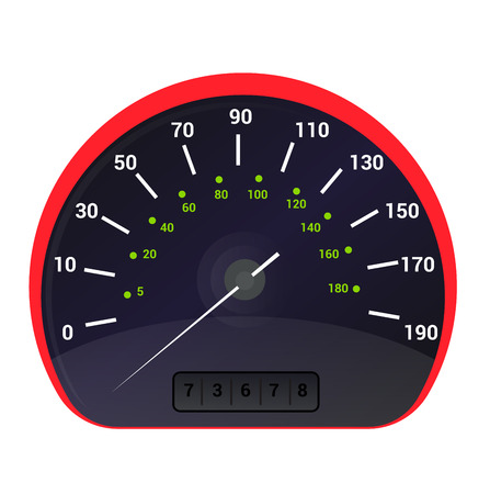 Speedometer vector car speed dashboard panel and speed-up power measurement design illustration set of speed-limit control technology with arrow or pointer isolated on white background.