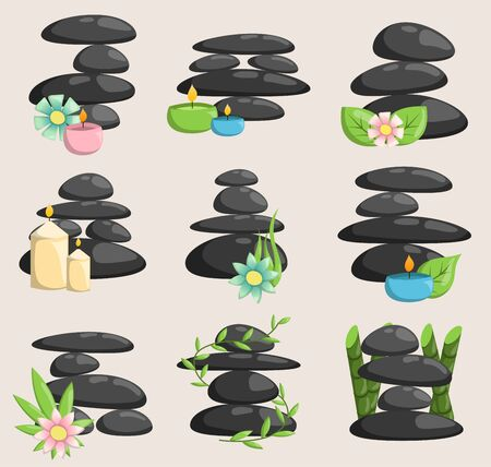 Spa stones isolated and relaxation isolated. Stones stack isolated pebble concept therapy, heap spa stones beauty tranquil relax.