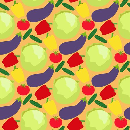 Vegetables food cellulose peppers tomatoes porridge healthy food seamless pattern background Banco de Imagens - 126974582