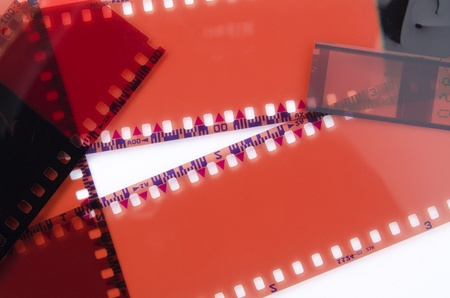 Image of old films on white background Stock Photo - 8952740