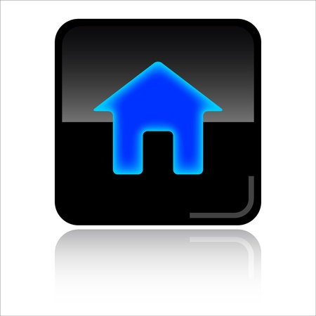 Home black glossy icon photo
