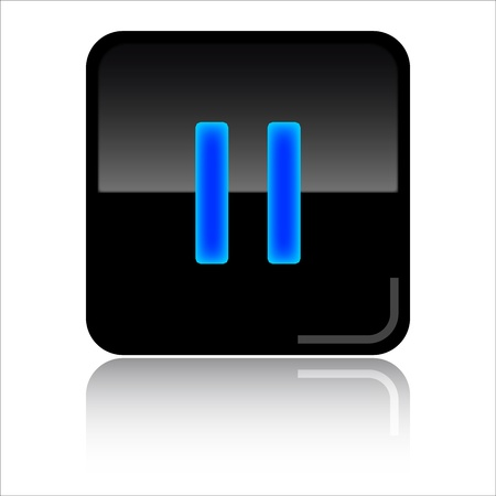 toolbar: Pause black glossy icon