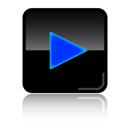 video marketing: Play-start black glossy icon