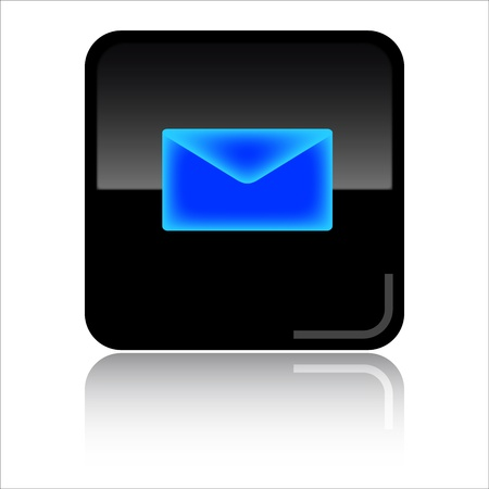eMail - Black glossy icon photo