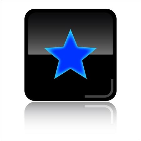 Favourites - Black glossy icon