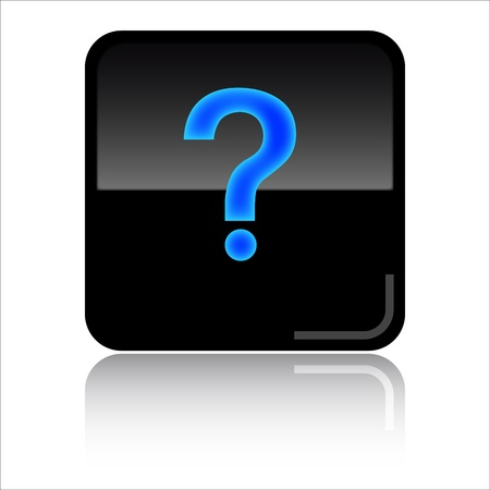 toolbar: Question mark  help - Black lossy icon