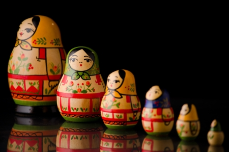 matryoshka doll: Tipical russian matrioska