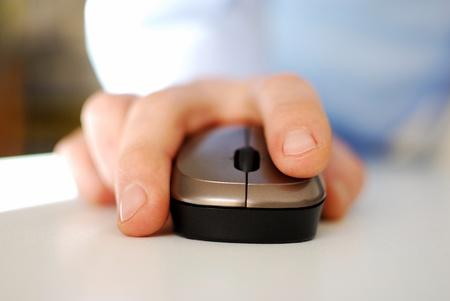 クリックしてマウス 写真素材