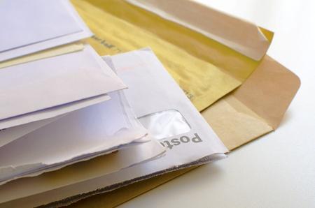 封筒の山 写真素材