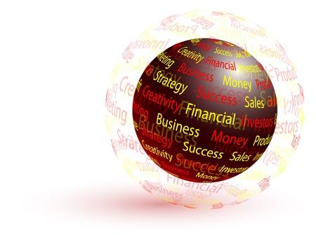 マーケティングの抽象的な世界 - ビジネス コンセプト