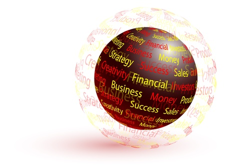 Marketing abstract globe - business concept  向量圖像