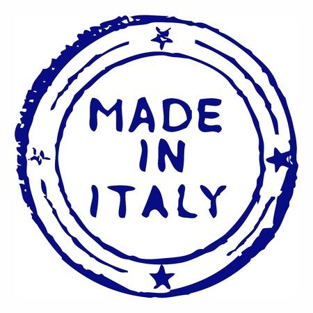 Hecho en Italia el sello de tinta grungy Vectores