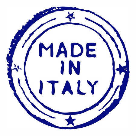 Made in italy grungy ink stamp 向量圖像