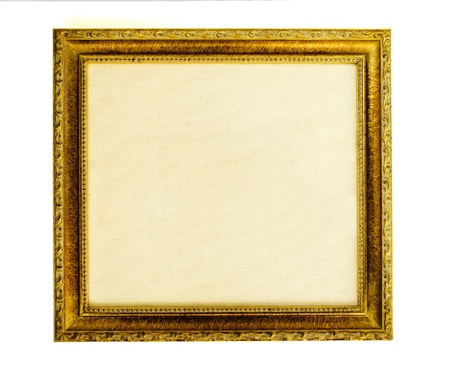 Gilded frame with empty canvas Stock Photo - 11127084