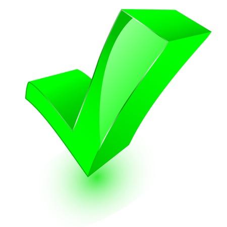 3d check mark symbol Stock Vector - 11501570