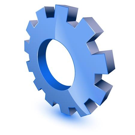 3d gear wheel symbol Stock Vector - 11501575