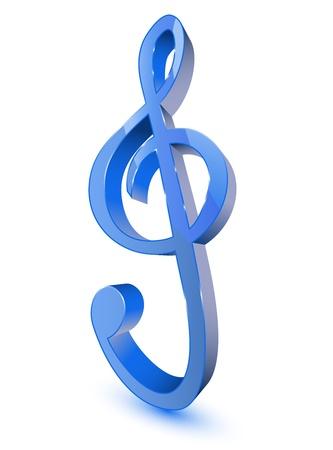 3d treble clef symbol Stock Vector - 11501572