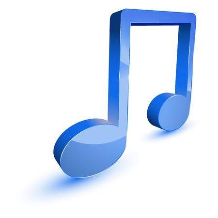 notes musicales: 3d symbole note de musique Illustration
