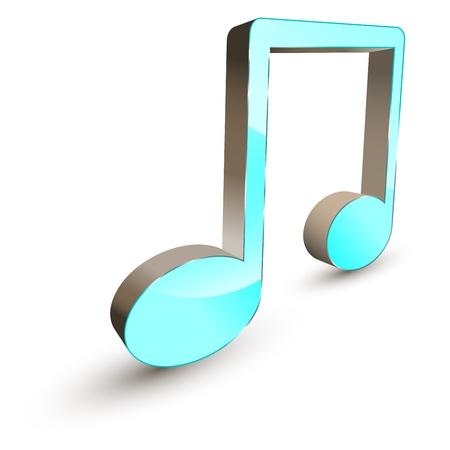 nota musical: La música 3d símbolo de la nota