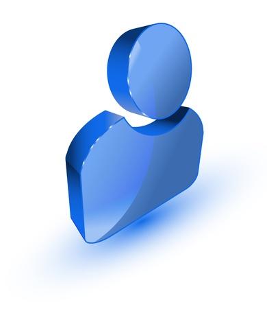 3 d のユーザー プロファイルのシンボル  イラスト・ベクター素材