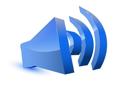 3d s�mbolo del altavoz de audio Vectores