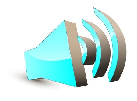 3d audio speaker symbol Stock Vector - 11501573
