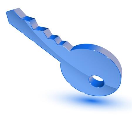 login icon: Blue key symbol Illustration