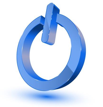 session: Blue power on - off symbol