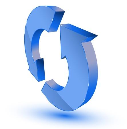Azul de actualizaci�n-s�mbolo de reciclaje
