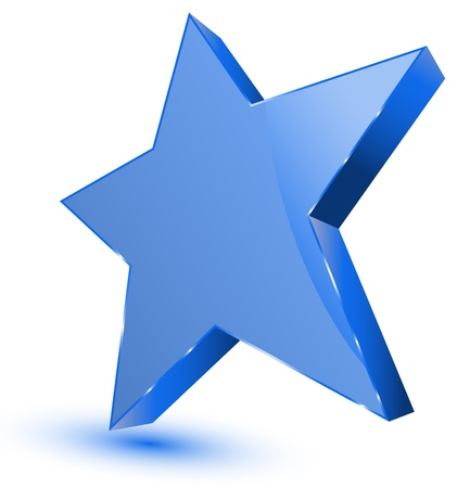 favorites: Blue star - favorites symbol Illustration