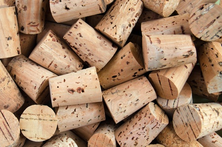 Background with close up of corks of bottle photo