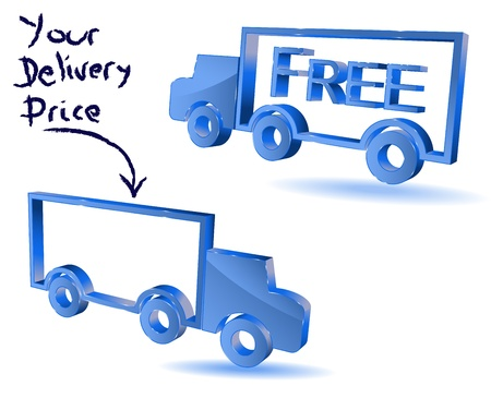 order shipping: Delivery truck symbol Illustration