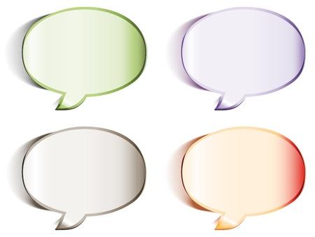 Blank speech bubbles stickers  Stock Vector - 13231945