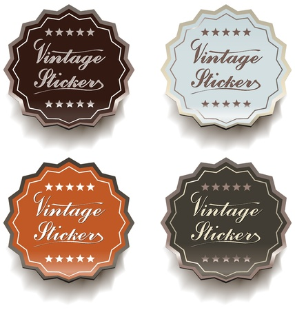 Vintage stickers Stock Vector - 13231936
