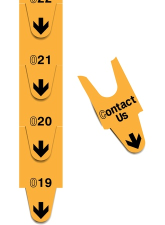 Contact us concept image with a turn ticket