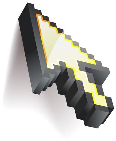 ピクセル化されたマウス カーソル - eps8  イラスト・ベクター素材
