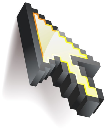 Cursor del rat�n pixelada - eps8 Vectores