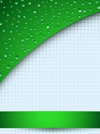 Green drops backdrop