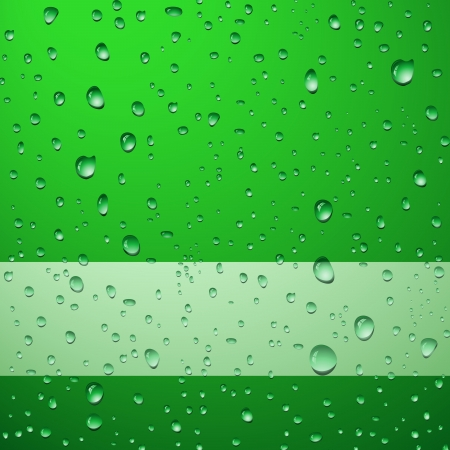 Green drops abstract background Illustration