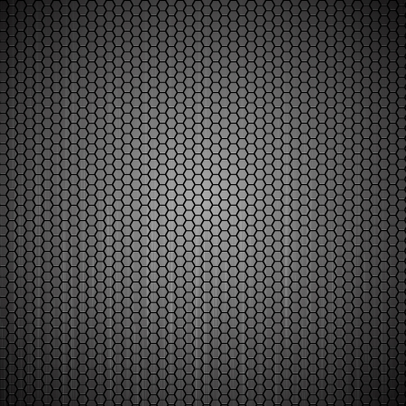 Metallic hexagon grid texture Stock Vector - 14087672