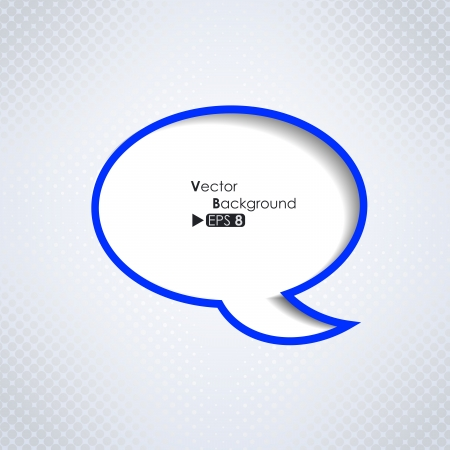 Abstract background with speech bubble Vector