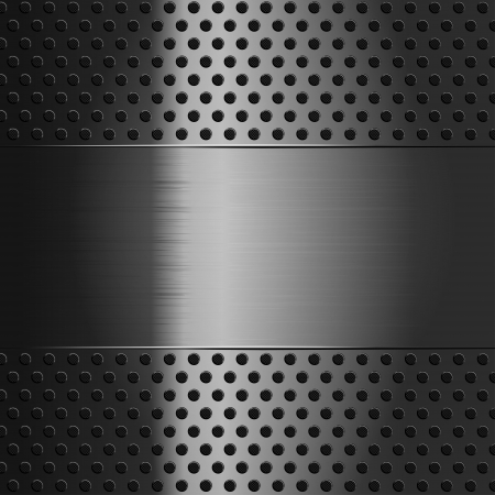 Metallic background with perforated grid Stock Vector - 15487210