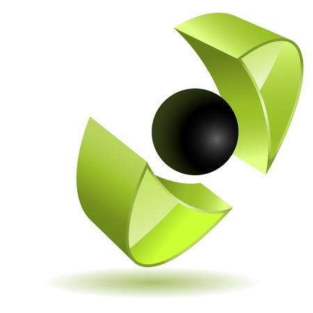 緑の抽象的なビジネスロゴ