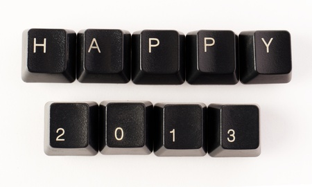 Keyboard keys wishing a happy new year Stock Photo - 16161378