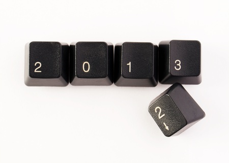 Keyboard keys - 2013 is coming Stock Photo - 16161380