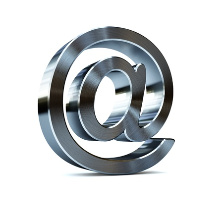 e new: Brushed metal email symbol